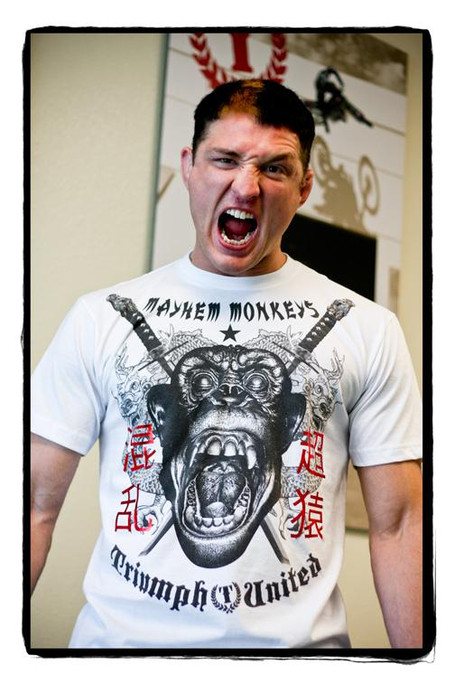 mayhem monkey tshirt