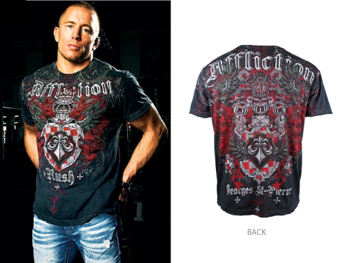 affliction gsp george st pierre t shirt