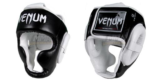 venum leather headgear