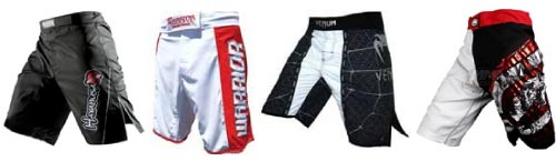 MMA shorts and fight shorts