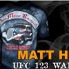 Matt Hughes T shirt UFC 123 One More Round